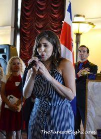Singing the U.S. National Anthem - Sofia Cohen