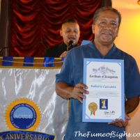 Roberto Cascante receives his Certificate of Recognition