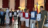 Distinguished people receive Certificates of Recognition