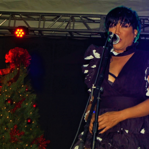 Michel'Le at the Inglewood Holiday Tree Lighting Celebration